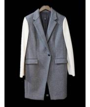 icB(アイシービー)の古着「袖レザー切替チェスターコート」|グレー