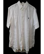 Rugby Ralph Lauren(ラグビーラルフローレン)の古着「リネン半袖シャツ」|ホワイト