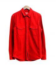 SUPREME(シュプリーム)の古着「Wポケットシャツ」|レッド