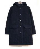 Traditional Weatherwear(トラディショナルウェザーウェア)の古着「キルティングコート」 ネイビー