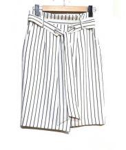 Apuweiser-riche(アプワイザー・リッシェ)の古着「ペンシルスカート」|ブルー×ホワイト