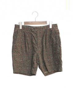 Engineered Garments(エンジニアードガーメンツ)の古着「総柄ハーフパンツ」|ブラウン