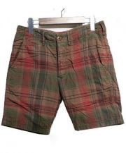 ts(s)(ティーエスエス)の古着「コットンリネンハーフパンツ」 レッド グリー