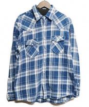 BLUE BLUE(ブルーブルー)の古着「インディゴチェックシャツ」|インディゴ