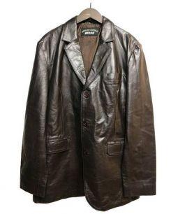 EEZAN(イーザン)の古着「レザージャケット」 ブラック