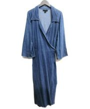 Ashley Stewart(アシュリースチュワート)の古着「ロングコート」|インディゴ