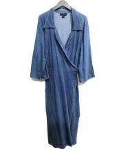 Ashley Stewart(アシュリースチュワート)の古着「ロングコート」 インディゴ