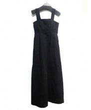 CLANE(クラネ)の古着「WIDE STRAP LONG ONE PIECE」|ブラック