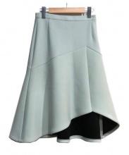 AULA(アウラ)の古着「ヘムスカート」|スカイブルー