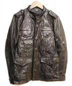 JUN MEN(ジュンメン)の古着「レザージャケット」|ブラック