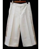 JOSEPH(ジョセフ)の古着「ワイドクロップドパンツ」|ホワイト