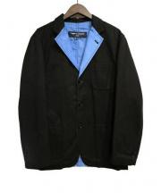 COMME des GARCONS HOMME(コムデギャルソンオム)の古着「リバーシブルジャケット」|ブラック×ブルー