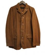 COMME des GARCONS HOMME(コムデギャルソンオム)の古着「プリント入りワークジャケット」|ブラウン