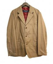 COMME des GARCONS HOMME(コムデギャルソンオム)の古着「裏地プリントテーラードジャケット」|ベージュ