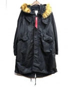 ALPHA×Stussy(アルファ×ステューシー)の古着「Fishtail Parka」|ブラック