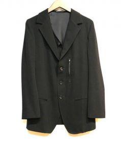Yohji Yamamoto(ヨウジヤマモト)の古着「テーラードジャケット」|ブラック