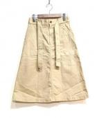 MHL.(エムエイチエル)の古着「スカート」|ベージュ