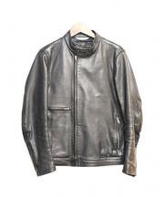 Paul smith JEANS(ポールスミス ジーンズ)の古着「シングルライダースジャケット」|ブラック