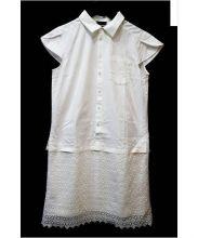 PRINGLE1815(プリングルエイティーンフィフティーン)の古着「切替シャツワンピース」 ホワイト