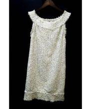 ANTEPRIMA(アンテプリマ)の古着「ツイードノースリーブワンピース」 ピンク