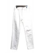 COMOLI(コモリ)の古着「Tapered 5 Pocket Pants」 ホワイト
