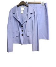 CELINE(セリーヌ)の古着「シルク混セットアップスーツ」|スカイブルー