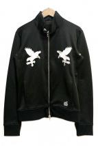 COAL BLACK(コールブラック)の古着「刺繍トラックジャケット」|ブラック
