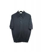 JOHN SMEDLEY(ジョン スメドレー)の古着「ポロシャツ」 ブラック