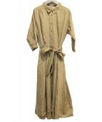 COLLAGE GALLARDAGALANTE(コラージュガリャルダガランテ)の古着「ブラウスワンピース」|ベージュ