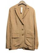 Whim Gazette(ウィムガゼット)の古着「リネン混チェスターコート」|ベージュ
