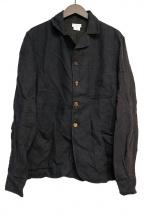 GUY ROVER(ギローバ)の古着「リネンジャケット」|ブラック