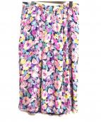 Drawer(ドロワー)の古着「フラワープリントシルクスカート」|マルチカラー