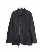 EMPORIO ARMANI(エンポリオアルマーニ)の古着「リネンコットンジャケット」|ブラック