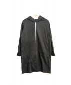 MACPHEE(マカフィー)の古着「コットンジャージー ジップアップロングパーカ」 ブラック