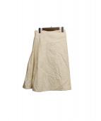 SOFIE DHOORE(ソフィードール)の古着「ラップスカート」 アイボリー