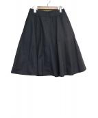 MARGARET HOWELL(マーガレットハウエル)の古着「フレアシルク混スカート」