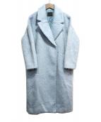 KBF(ケービーエフ)の古着「ロングシャギーコート」 スカイブルー