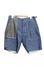 Engineered Garments(エンジニアードガーメンツ)の古着「パッチワークパンツ」|インディゴ