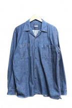 COMOLI(コモリ)の古着「オープンカラーデニムシャツ」