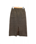 martinique(マルティニーク)の古着「ドビーチェックタイトスカート」