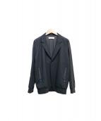 ETHOSENS(エトセンス)の古着「ラインジャケット」|ブラック