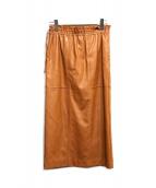 ELENDEEK(エレンディーク)の古着「エコレザースカート」 ブラウン