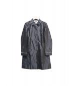 JIL SANDER NAVY(ジルサンダー ネイビー)の古着「シルクコート」|ブラック