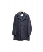 MHL.(エムエイチエル)の古着「フーデッドコート」|ネイビー