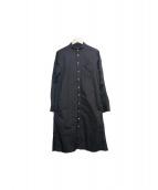 GROUND Y(グランド ワイ)の古着「テープロングシャツ」|ブラック
