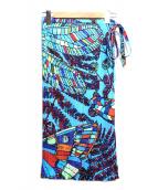 PLEATS PLEASE(プリーツ プリーズ)の古着「蝶柄巻き風プリーツスカート」