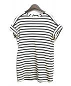 Traditional Weatherwear(トラディショナル ウェザーウェア)の古着「ボーダーボックスワンピース」|ホワイト×ブラック