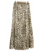 金子綾×FRAMeWORK(カネコアヤ×フレームワーク)の古着「ギャザースカート」|ブラウン