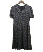Loulou Willoughby(ルルウィルビー)の古着「シルクワンピース」|ネイビー