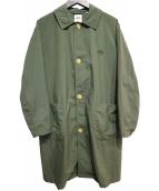 DANTON(ダントン)の古着「ステンカラーコート」|カーキ
